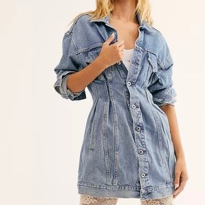 LEVI'S Made & Crafted Denim Trucker Dress NEW